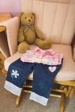 сложенные одежды детей Стоковое фото RF
