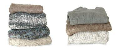 сложенные свитеры Стоковые Изображения
