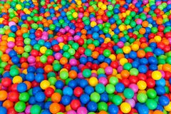 Сложите вместе с яркой предпосылкой шариков Стоковые Фото