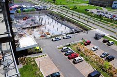 Сложная строительная площадка в городе Terrebonne, Квебека, Канады стоковое фото