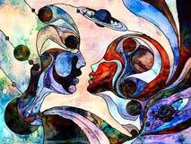 Сложное разделение цвета Стоковое Изображение