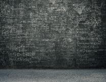 Сложные эскизы науки и physic на стене стоковое фото