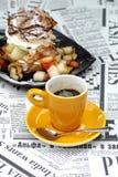 слойка кофе cream Стоковое Изображение RF