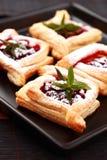 слойка печенья вишни Стоковое Фото