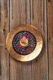 слойка печенья голубик заполненная заварным кремом стоковые фото