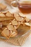 слойка печенья яблока Стоковое Изображение
