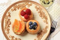 слойка печень плодоовощ заварного крема стоковое фото rf