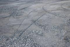 Слой выпускных экзаменов строительства дорог гравия стоковое фото rf