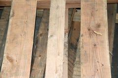 Слой паллета, сделанный от древесины Портативная платформа на которую товары можно двинуть стоковое фото