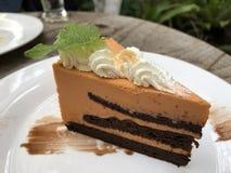 Слой тайских торта чая и сливк хлыста Стоковая Фотография RF