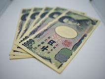 Слой японского примечания стоковые фотографии rf