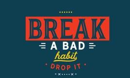 Сломайте падение плох привычки оно иллюстрация штока