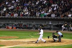сломанная бейсбольная бита разрушила Стоковая Фотография RF