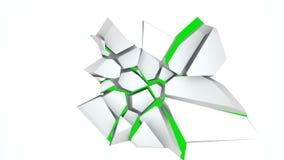 Сломанная стена с отверстием с обломками в центре, 3d представляет иллюстрацию, произведенный компьютер бесплатная иллюстрация