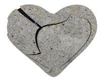 Сломанное сердце от каменного изолированный - перевод 3d бесплатная иллюстрация