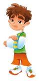 сломанный мальчик рукоятки Стоковое Фото