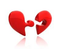 сломано вниз с сердца разделяет головоломку 2 Бесплатная Иллюстрация