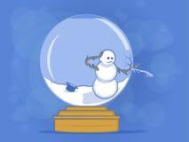 Сломленная иллюстрация глобуса снежка Стоковые Изображения