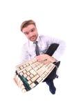 сломленная клавиатура дела Стоковое Фото
