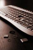 сломленная клавиатура Стоковые Изображения RF