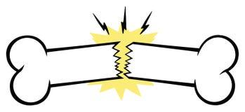 Сломленная линия дизайн косточки чертежа мультфильма стоковое фото rf