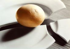 сломленная плита яичка Стоковые Изображения RF
