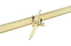 Сломленная принципиальная схема дела карандаша Стоковое Фото