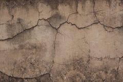 сломленная старая стена Стоковая Фотография