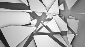сломленная стена иллюстрация 3d представляет Стоковое Изображение