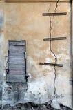 сломленная стена Стоковые Изображения RF