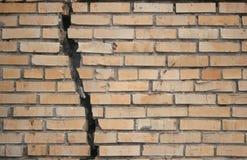 сломленная стена Стоковая Фотография
