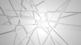 Сломленная стена 3D представляет иллюстрацию Стоковые Фото
