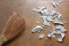 сломленная тарелка Стоковая Фотография