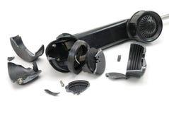 сломленная телефонная трубка Стоковое Фото