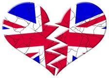 сломленная треснутая Великобритания Стоковые Фотографии RF
