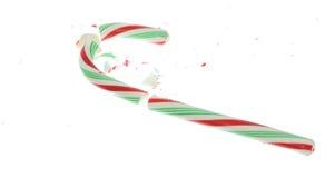 сломленная тросточка конфеты Стоковое Изображение