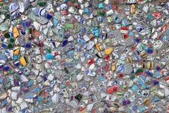 сломленная цветастая стеклянная мозаика Стоковые Фото