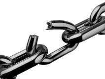 сломленная цепь Стоковое Изображение RF