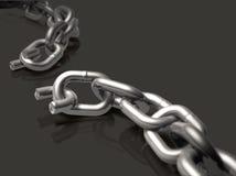 сломленная цепь Стоковое Изображение