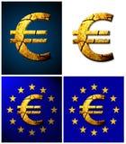 сломленное евро стоковое изображение rf