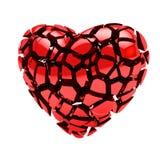 сломленное изолированное сердце соединяет белизну Стоковое Изображение RF