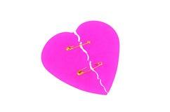 сломленное изолированное сердце Стоковые Фото