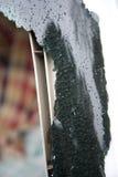 Сломленное окно автомобиля Стоковая Фотография