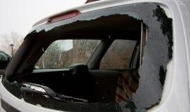 Сломленное окно автомобиля Стоковое Изображение RF