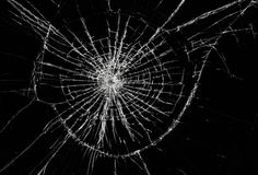сломленное окно Стоковая Фотография RF