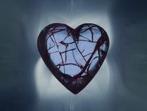 Сломленное сердечное окруженное с дымом бесплатная иллюстрация