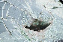 сломленное стекло автомобиля Стоковые Фотографии RF