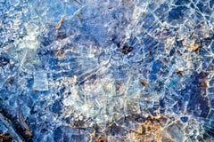 сломленное стекло Стекло было поломано Стоковое Фото