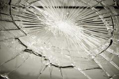 сломленное стекло Стоковая Фотография