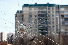сломленное стекло Стоковое Изображение RF